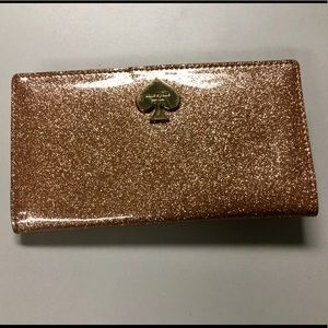 kate spade pink sparkly wallet